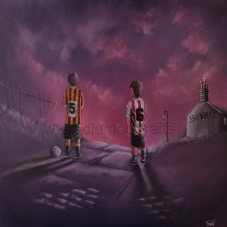 They Say It Gets Easier - Bradford City / Lincoln City Memory   11'' x 11''  poster print